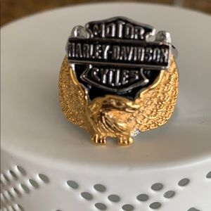 New Harley Davidson stainless steel eagle ring  10